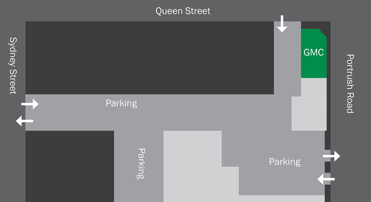 Map of Parking - Glenunga Medical Centre